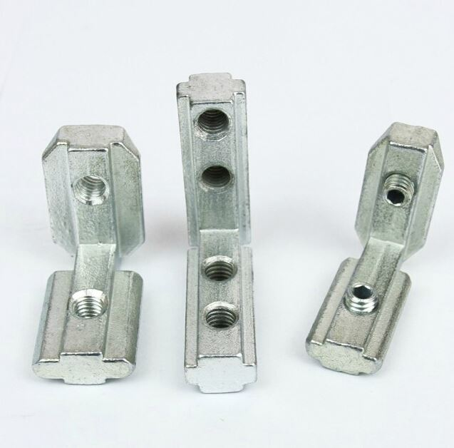 T Slot Interior Joint Angle Bracket for Aluminum Profile Extrusion 30x30 Slot 8mm With Screw Free Connect Parts