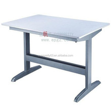 Stable Iron Tube Frame Table for Library Reading, University desk with cheap price