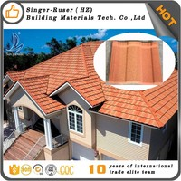 Factory Supply! Import Building Material From China,Stone Coated coffee brown color metal roofing