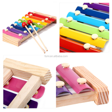Wholesale 2017 fashion Hand Knock Wooden Xylophone piano children toy