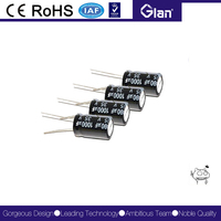 non polarized 35v 1000uf electrolytic capacitor radial electronic components