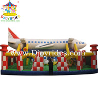 Colorful Giant Airplane Inflatable Fun City Games