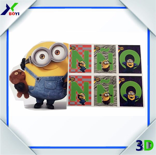 2017 new designs temporary tattoo sticker Minions Despicable Me party supply mini food toys stickers for giveaway gifts