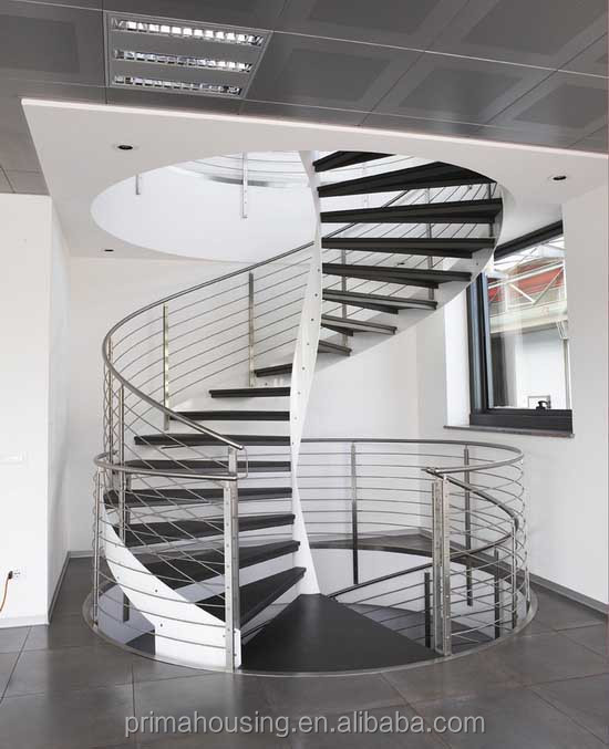 Customized Steel Wood Modern Loft Stairway