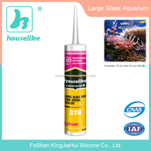 Tall glass partition usage Acetic RTV silicone sealant