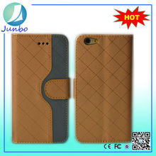 Alibaba di Alta Qualità Golden PU Cassa di Cuoio Del Raccoglitore Cell Phone Case Cover per iPhone 6