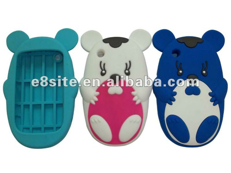 3D Mouse Silicone Back Case Covers For BlackBerry 8520 Curve