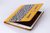 High quality flip cover for ipad air 2 leopard skin tablet case