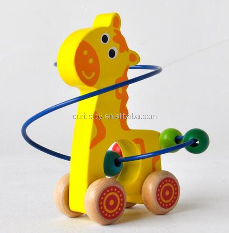 kids funny cheap christmas gift catalogs giraffe model childrens educational toys mini animal around beads car game wooden toy buy mini animal around - Christmas Gift Catalogs