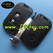 Modified 2 buttons car key shell for nisan car key cover flip key nisan