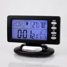 decorative lcd projection plastic digital alarm desk clock