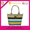 newest design custom stripe Canvas Shopping Bags Recyclable Canvas BeachTote Bags