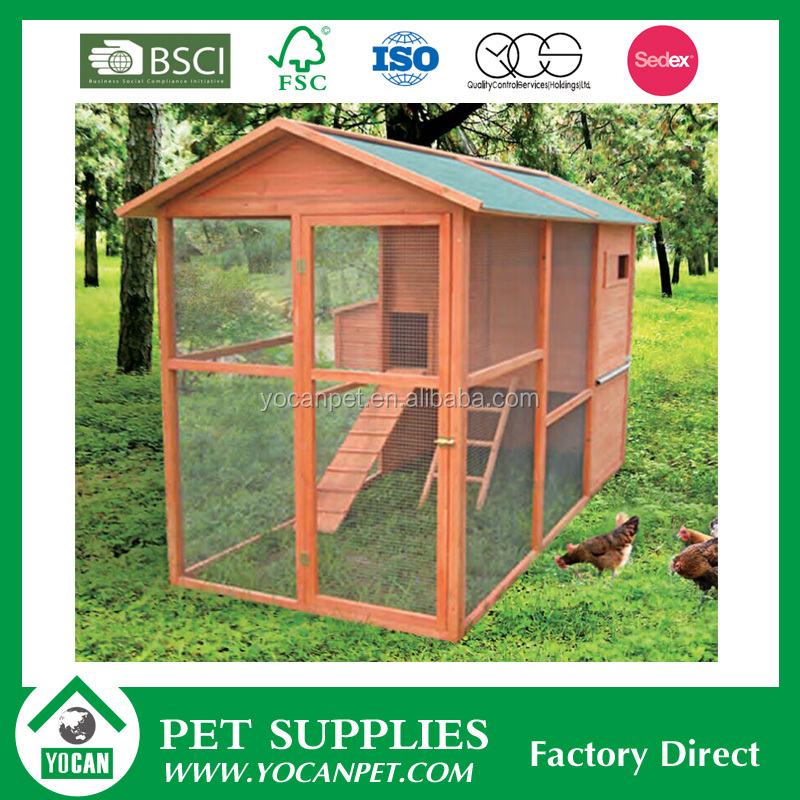 prefabricated chicken house for laying hen with large run