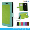 Factory price silk pattern pu leather case for archos 50f helium wallet card slot case