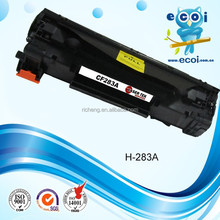 2015 new product! Compatible black laser toner CF283A toner cartridge for M125/M127fn/M127fw printer