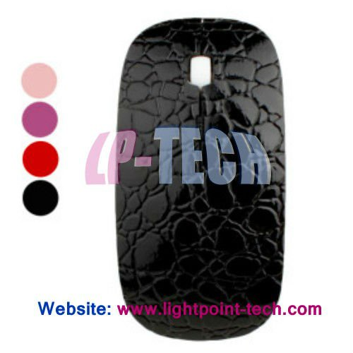 Fashionable Crocodile style 1600DPI mini wireless optical mouse