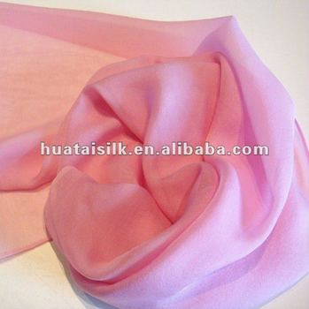 100% Silk Chiffon Fabric in Natural Serial Pattern (ZS554)