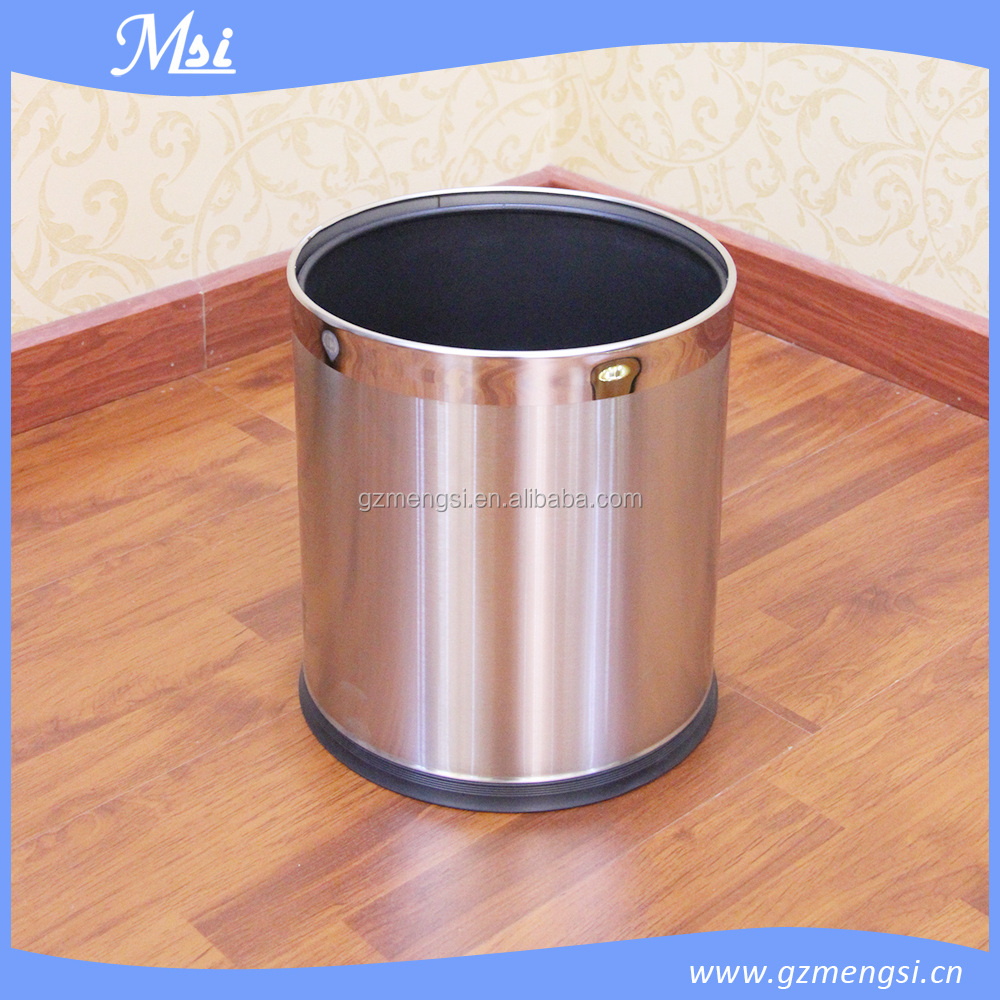 Creative Metal Bin Fashion Home Wastebasket