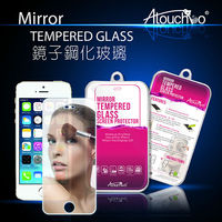 iTop nEwest 9H anti-scratch silver Mirror screen protector tempered glass