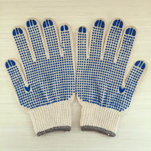 Cheap pvc dotted cotton hand job glove oil and gas glove