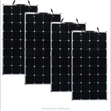 Sunpower flexible high efficiency mono solar module 100W solar panel for boat marine