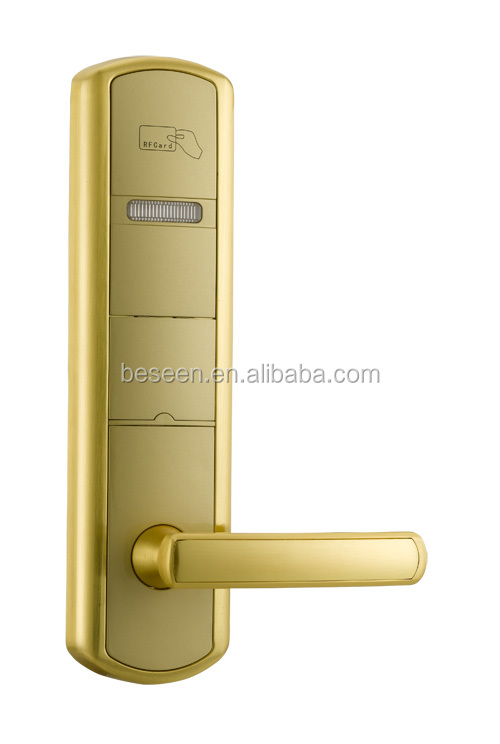 Rf Smart Card International Standard Digital Hotel Door Locks/electronic Panel Door Lock BS918Z3