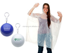 2017 Custom Promotional Logo Printed PE Adult Disposable Rain Poncho