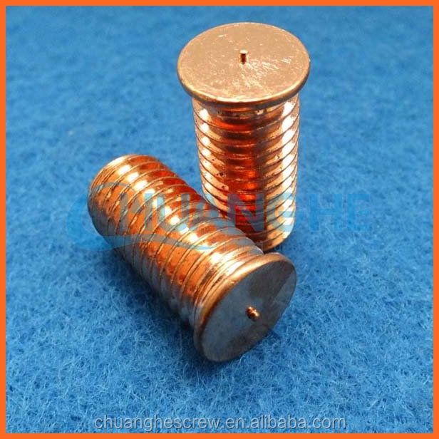 Made in dongguan the best quality studs and screw in spikes welding screw