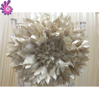 Fashion wedding decoration chair covers organza and satin flower sash