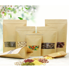 Chinese Made Kraft Paper Bag With Zip Lock And Window