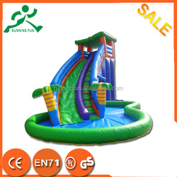 Hight quality 0.55mm PVC inflatable green slide,inflatable water slide,kids slide inflatables