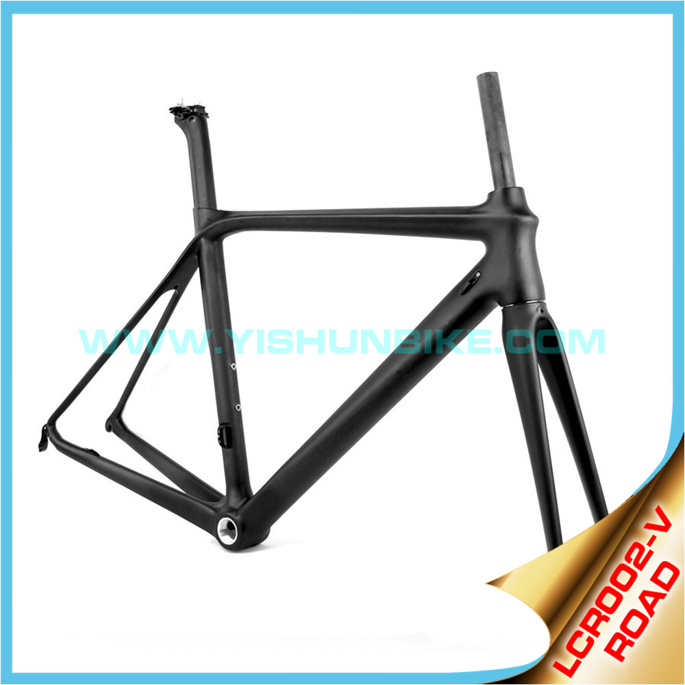 2016 YISHUNBIKE New model 700C Full Carbon Strong Road Frame Kit BB86 frame/fork/seatpost/seatclamp