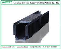 drainage gutter with stainless steel grating cover,plastic u channel,polymer concrete drainage channel