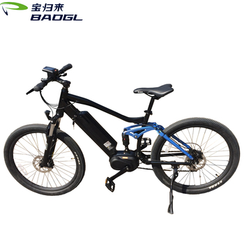48V 500w electric bike Bafang 8FUN brushless Mid motor electric bicycles 12A Lithium-ion battery with 6061 Aluminum Alloy frame