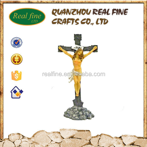Polyresin 3D Jesus Cross Statue For Home Decoration