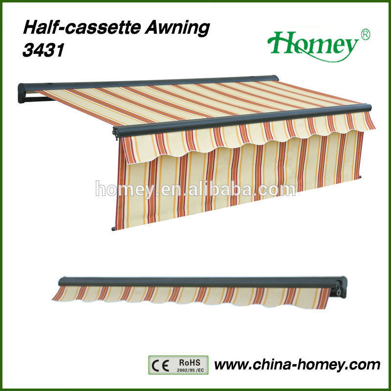 New Fashion! Homey aluminum awnings lowes with max 1.4m valance