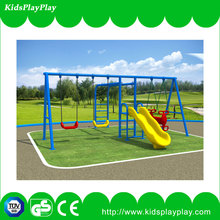 Hot selling outdoor playgrounds children swing sets supplier with slide