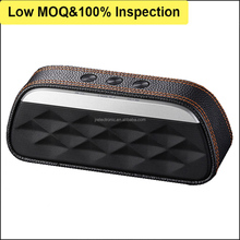 Leather Mini Portable Wireless Multimedia Bluetooth Mobile Music Speaker