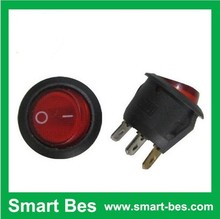 Smart Bes Rocker Switchs 3-Pin 250V6A 125V10A ON-OFF (Circular, SPST, 3P) electronic components purchasing switch