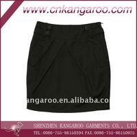100% cotton black skirts, school uniform, girls' skirts