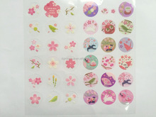 custom cartoon flower 3d pvc sticker ,dome pvc adhesive sticker printing