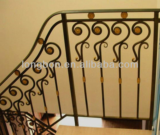 Top-selling indoor wrought iron handrail parts