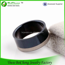 China manufacturer black italian finger ring 316l stainless steel jewelry