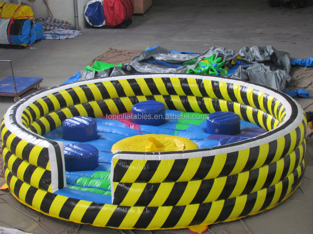 New inflatable wipeout sport game, inflatable meltdown ride game for adults,inflatable rotating rod