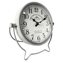decoration retro antique beside metal Table&desk clock
