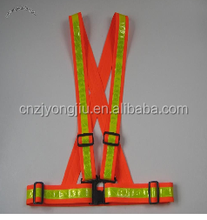 polyester working safety waist belt with reflective tape