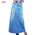 Elegant stylish women long jeans skirts high quality