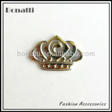 2013 fashion crown metal label badge logo for bags and clothes