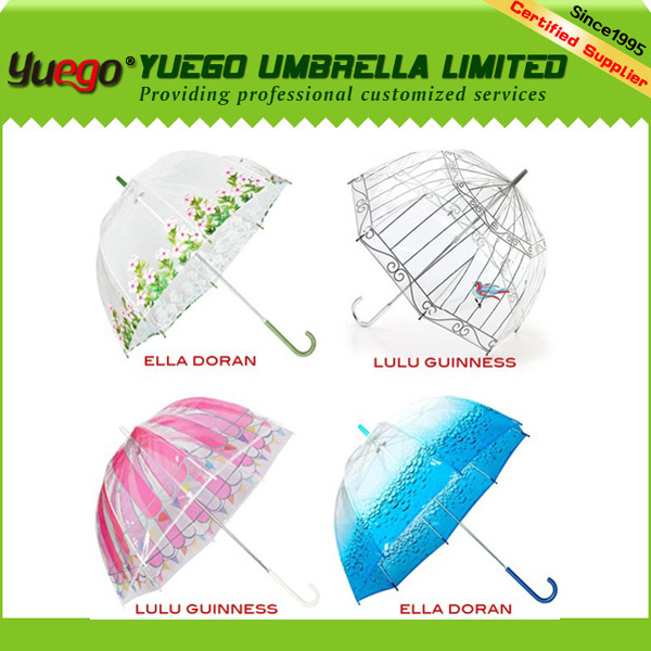 kids painting transparent plastic roof dome shaped umbrella