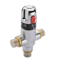 "Solar system Temperature control 1/2"" brass mixer cold hot water shower thermostatic mixing valve"